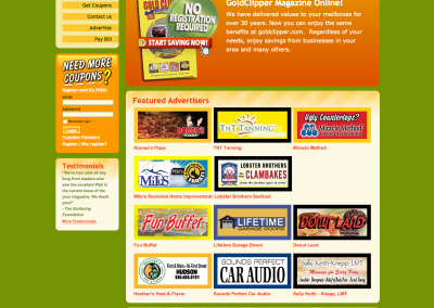 Coupon Magazine Website Design