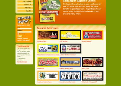 Coupon Magazine Website Design